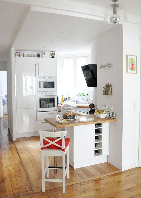 Kitchen In A Paris Apartment Naturel Hodgepodge Pinterest