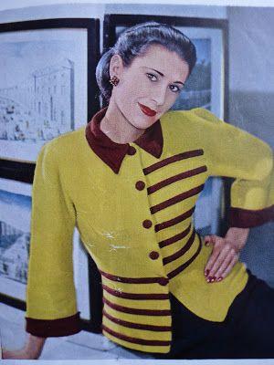 by Kate-Em on Vintage knitting patterns - women's cardigans. | Pi