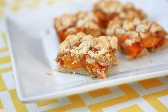 Peach Crumble Bars | Recipes | Pinterest