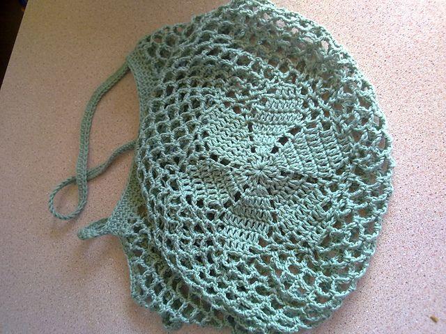 Crochet String Bag Pattern : Flower Motif String Bag pattern free! Crochet Bags Pinterest