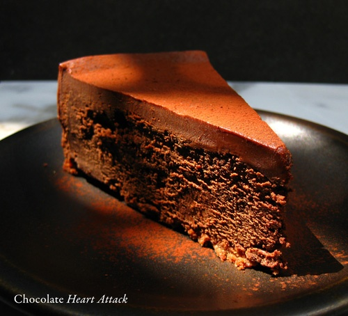 Deep Dark Chocolate Cheesecake, a.k.a. The Chocolate Heart Attack