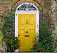 lovely yellow door