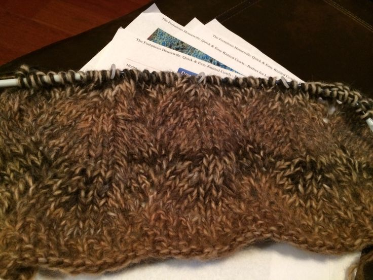 Knit Scarf from Anna Cowl pattern. Using Amazing yarn Cobblestone. US ...