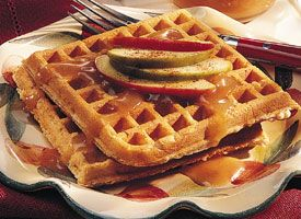 Apple Cinnamon Waffles with Cider Syrup. Made these for breakfast this ...