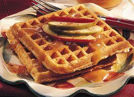 ... apple cider hot apple cider waffles with apple cider syrup and pecans