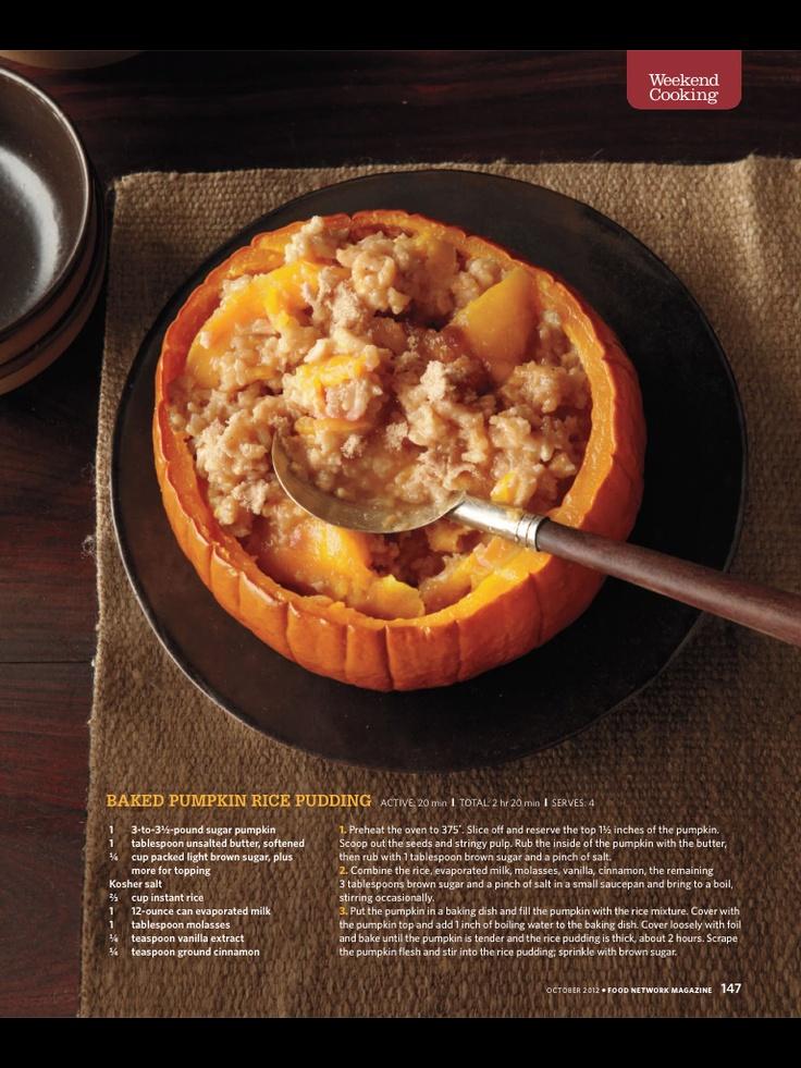 Baked pumpkin rice pudding | travel.&.eats. | Pinterest