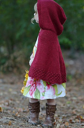 Knitting Pattern Cape With Hood : Little red riding hood My Friend Might Like This Pinterest