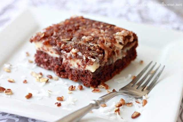 Upside-Down German Chocolate Cake | Desserts-Cakes, Cupcakes and Icin ...