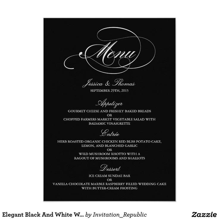 elegant dinner menu template | datariouruguay