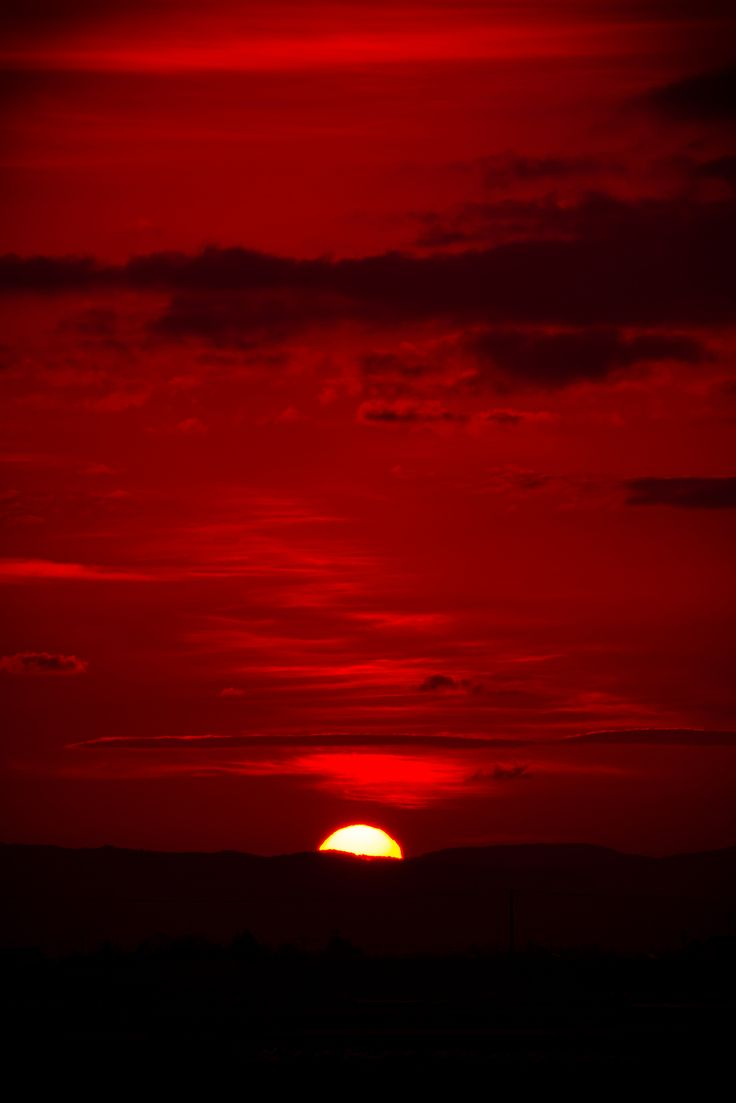 Red sky at night... | in the RED | Pinterest