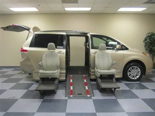 toyota sienna wheelchair vans for sale buy handicap. Black Bedroom Furniture Sets. Home Design Ideas