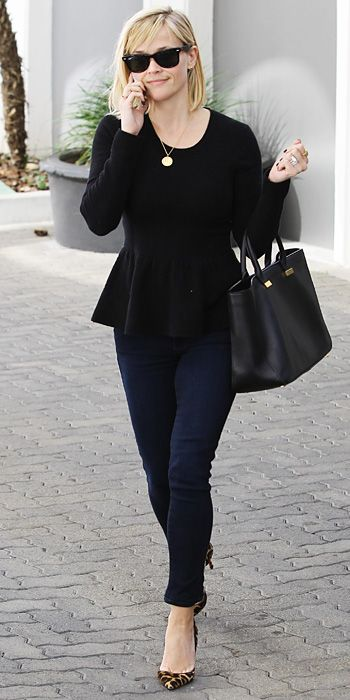 Look of the Day - January 18, 2014 - Reese Witherspoon #InStyle