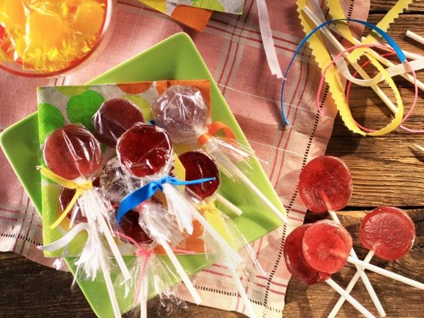 Homemade Pomegranate-Lime Lollipops from CookingChannelTV.com  -  Recipe