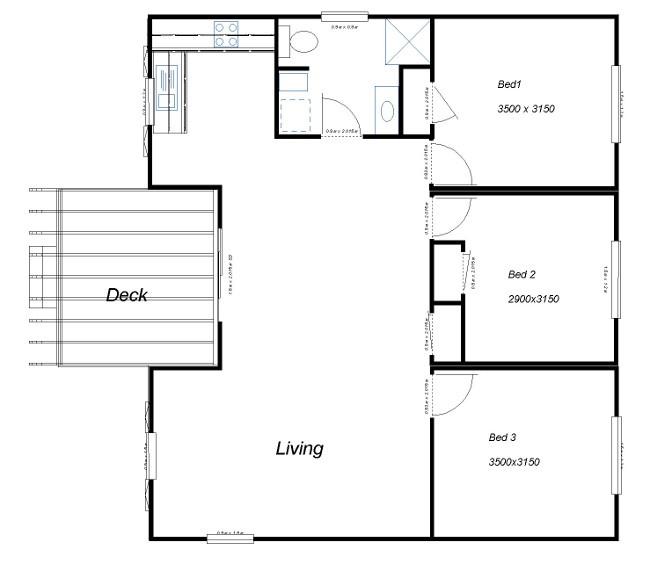 3 bedroom abc scaled floor plan creative modular homes