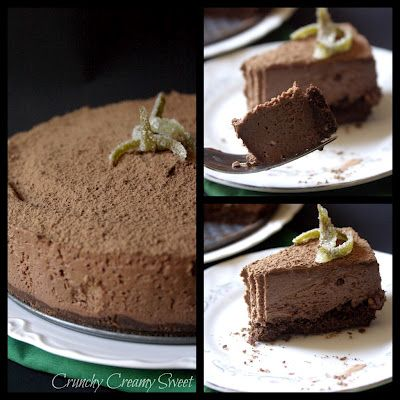 cheesecake+collage No Bake Chocolate Cheesecake a Guest Post on A ...