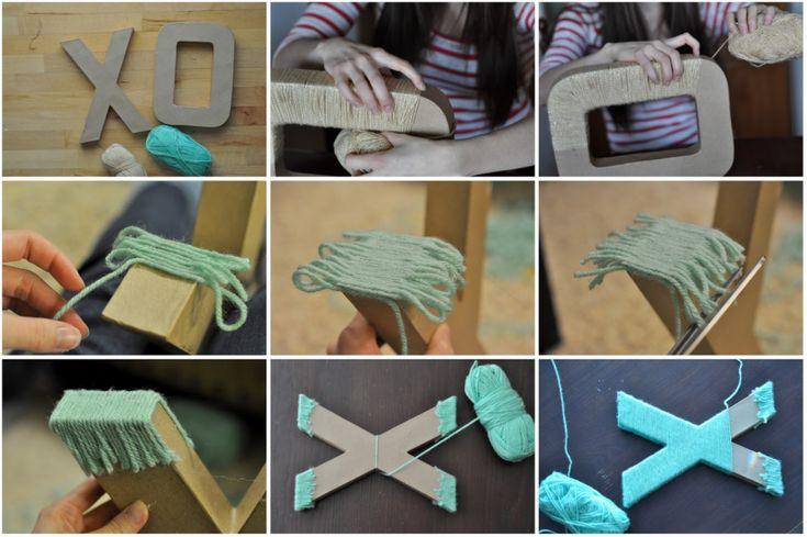 Из чего изготовить буквы своими руками