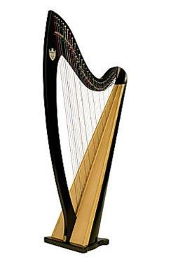 lyon and healy troubadour - lever harp