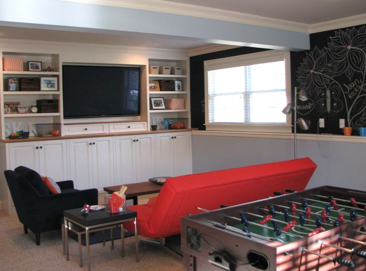 Kids teen recreation room designed by michele taylor for Kids rec room ideas