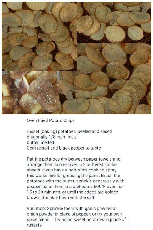 Oven fried potato chips! | Phish Dish. | Pinterest
