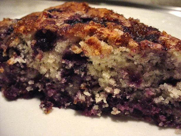 Huckleberry or blueberry coffee cake recipe - use regular cream cheese