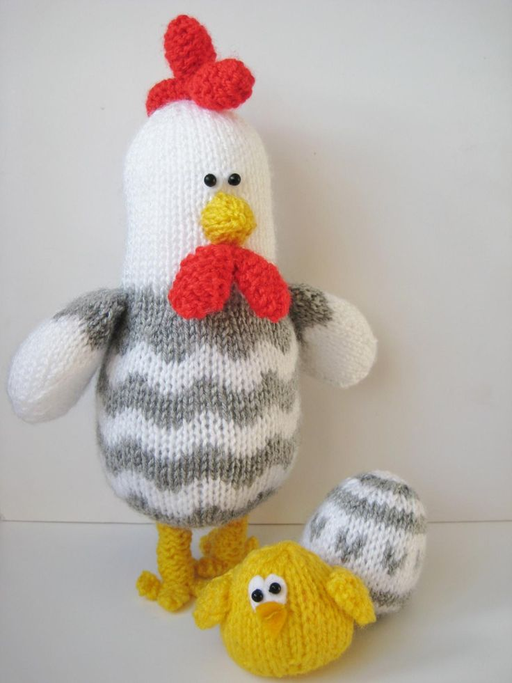 Knitting Patterns Toy Chicken : Bertie Rooster Chicken Knitting Pat