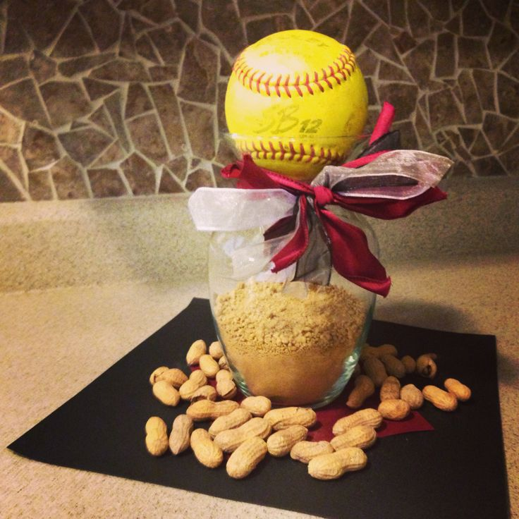 Softball centerpieces
