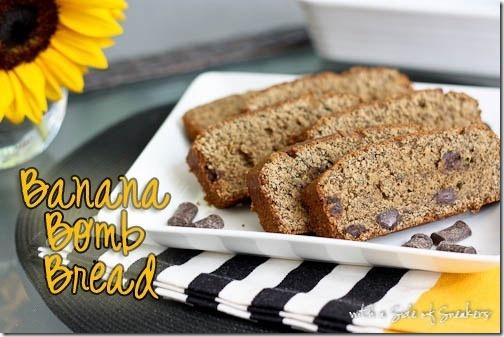Banana Bomb Bread w chocolate chips   Food Lovers Unite   Pinterest