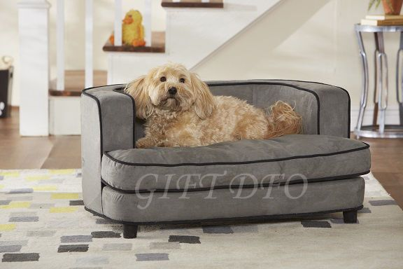 Grey Dog Bed Sofa : Dog cat pet bed soft cushion puppy lounge sofa cliff large