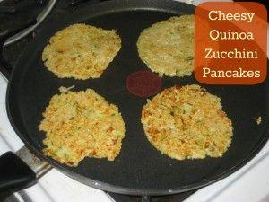 cheesy #quinoa zucchini pancake | deliciousness:) | Pinterest