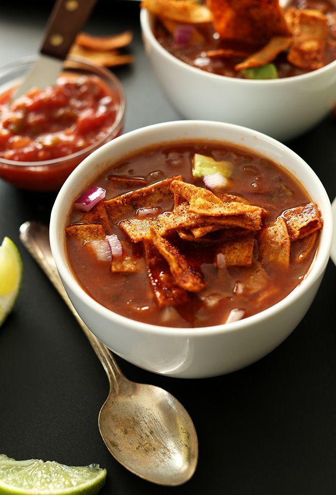 Vegan Tortilla Soup | nom nom nom | Pinterest