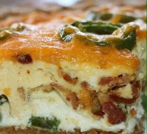 Bacon jalapeño popper quiche | Food To Try | Pinterest