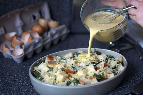 Spinach and cheese strata. AKA - no fail breakfast-brunch dish for a ...