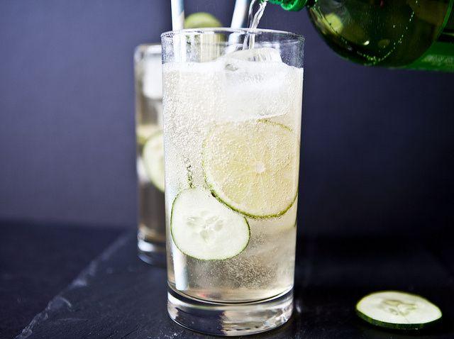 Cucumber (vodka) Ginger Fizz | LUSH | Pinterest