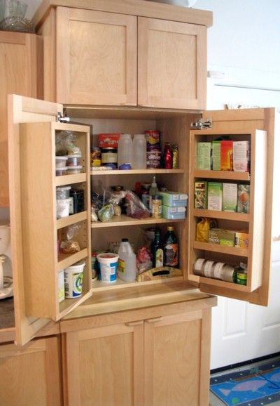 Kitchen pantry small kitchen space for the home Kitchen storage cabinets for small spaces