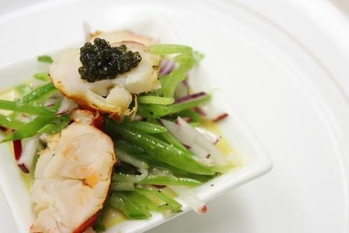 ... Lobster and Miso Custard Snow Pea, Radish Salad, Lemon Vinaigrette