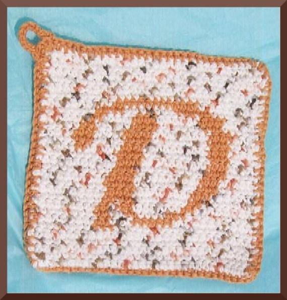 personalized hotpad Crochet patterns I bought on Etsy Pinterest