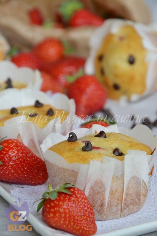 Muffin fragole e cioccolato   Cupcake&Muffin   Pinterest