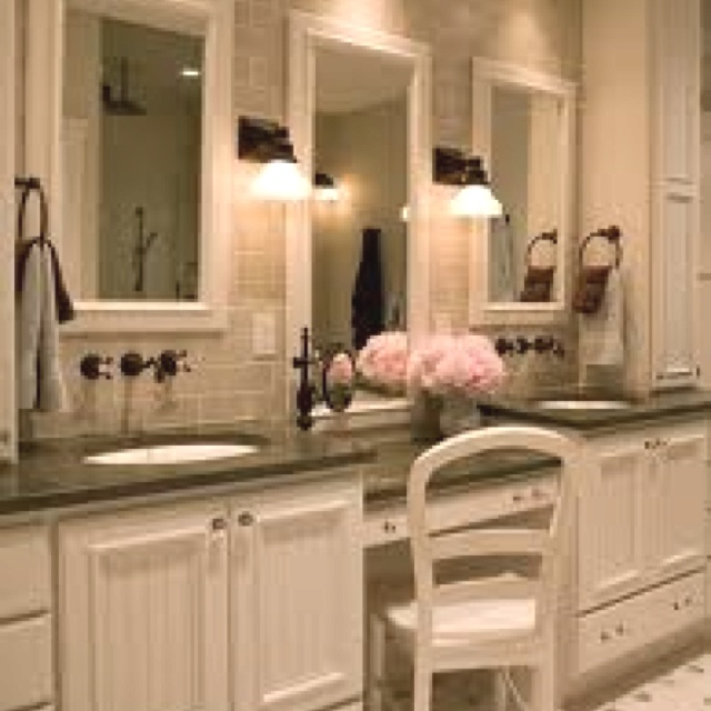 makeup vanity in master bath new house pinterest