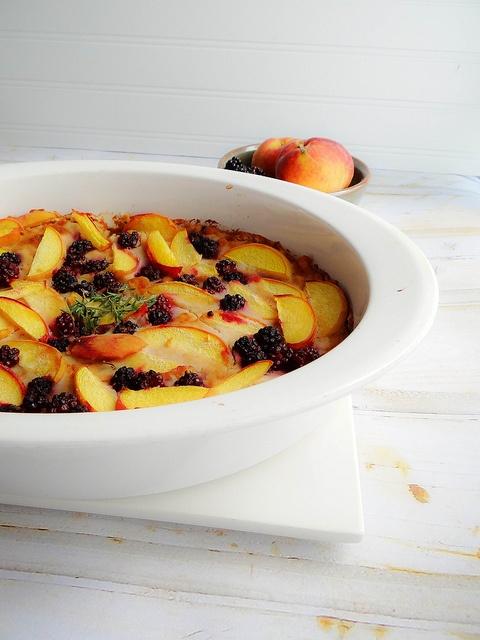 Blackberry thyme peach cobbler | Fruity Food Stuff | Pinterest