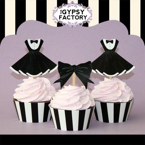Black tie cupcake toppers | Cupcakes ( idées + à imprimer ...