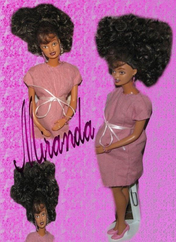 Pregnant fashion doll miranda ooak barbie