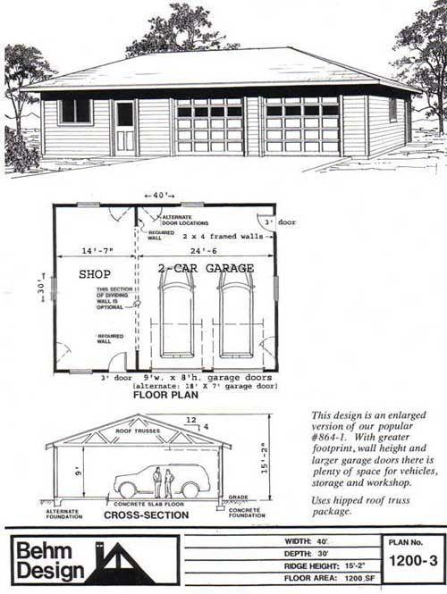Pin by behm design on garage plans pinterest for Hip roof garage plans
