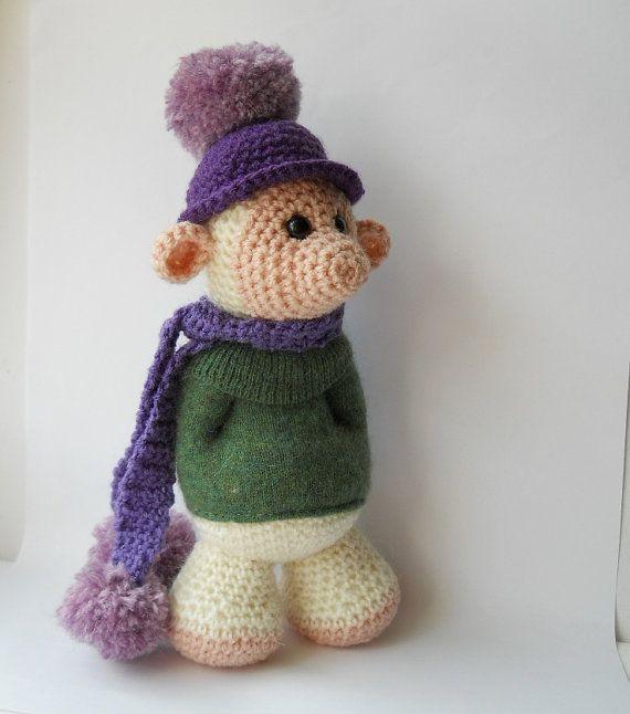 Amigurumi Cute Animals : Amigurumi cute monster doll, crocheted mythical troll ...