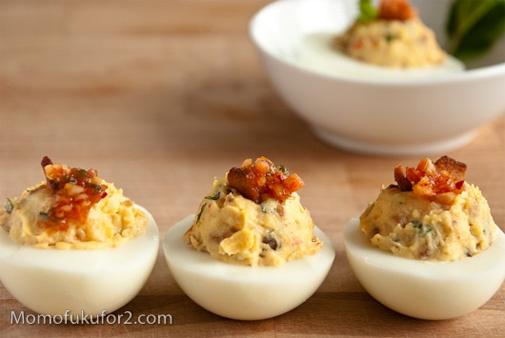 Kimchi Bacon Deviled Eggs | The Deviled Egg | Pinterest