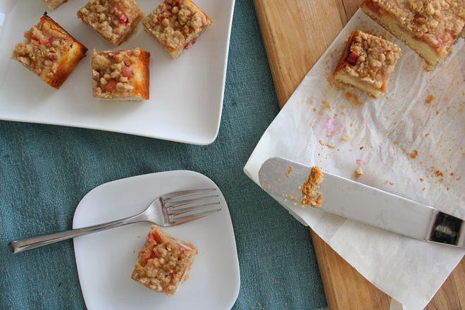 rhubarb snack cake | Baked Goods | Pinterest