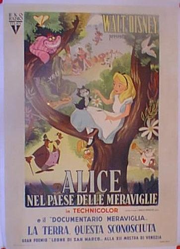 Alice in Wonderland Cartoon Walt Disney 1951 Movie Poster 14070 | eBay