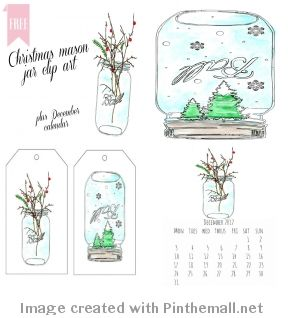 Free Mason Jar Clip Art | Christmas Ƥriƞtaƀles and Fσnts ...