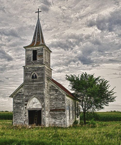Beautiful weathered old church.