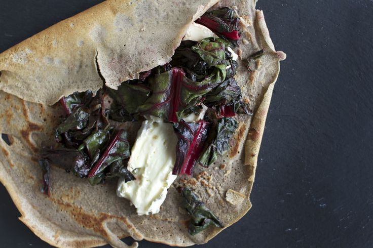 Buckwheat Crepes with Brie + Honey Sauteed Swiss Chard - make with ...