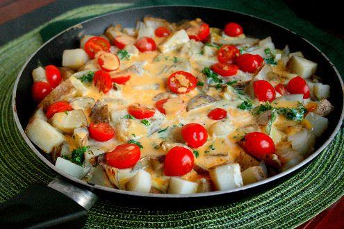 Cheesy Potato Frittata (One Dish meal ready in 30 minutes)